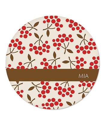 Holiday Berry Personalized Plate