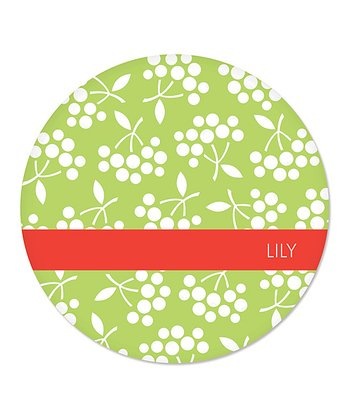 Green Berry Personalized Plate