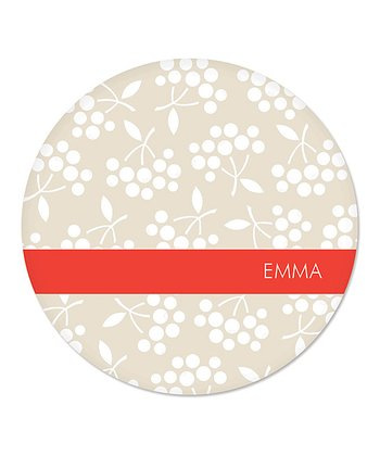 Khaki Berry Personalized Plate