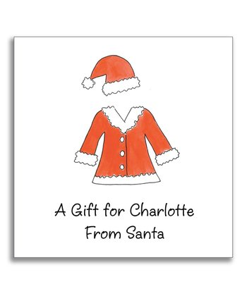 Santa Suit Gift Sticker