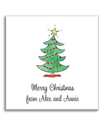Trim the Tree Gift Sticker