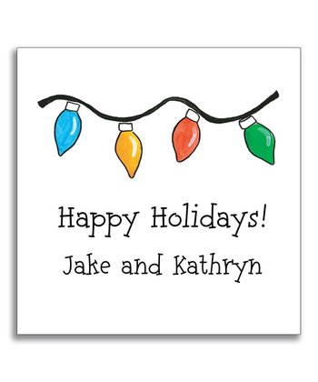 Holiday Lights Gift Sticker