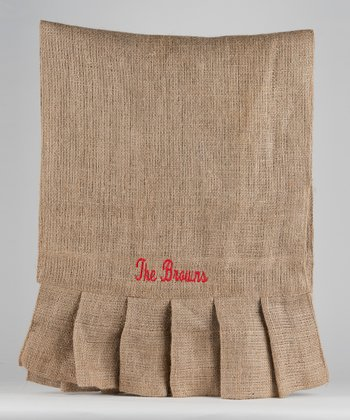 Burlap Personalized Table Runner