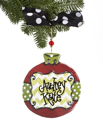 Zigzag Ball Personalized Ornament