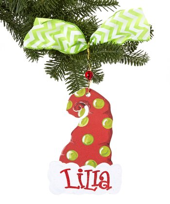 Santa Hat Personalized Ornament