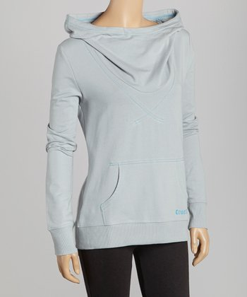 Gray & Blue Stitch 'Cruel' Cowl Neck Pullover - Women