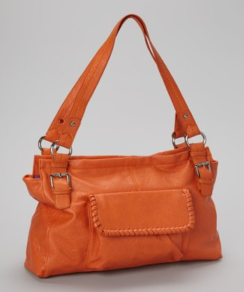 Orange Pocket Shoulder Bag