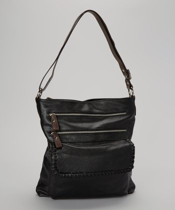 Black Zipper Crossbody Bag