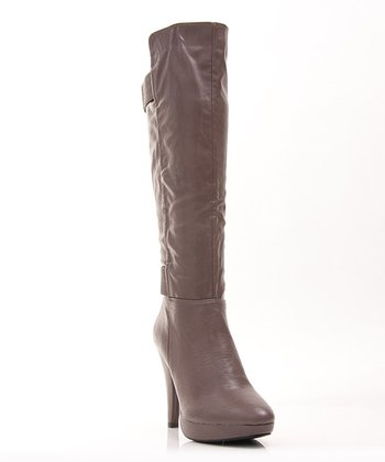 Tan Fashion News Boot