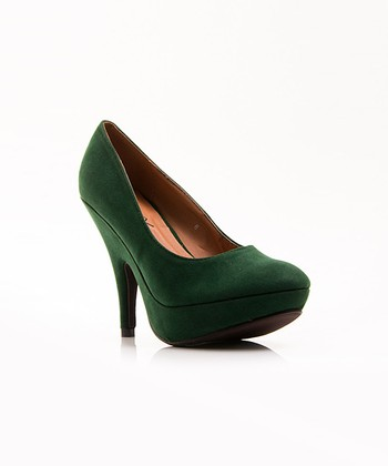 Dark Green Oksana Pump