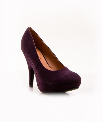 Purple Oksana Pump