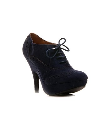 Navy Lace-Up Oksana Pump