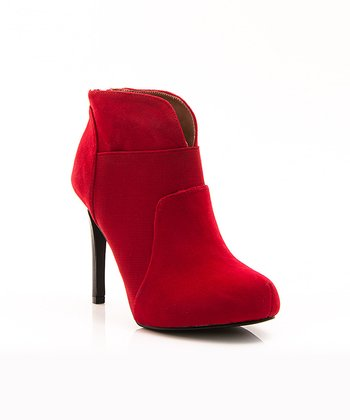 Red Mod Prom Night Bootie