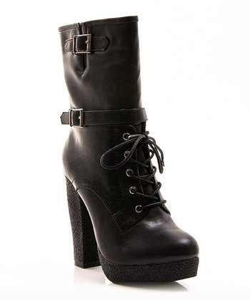 Black Buckle Selma Boot