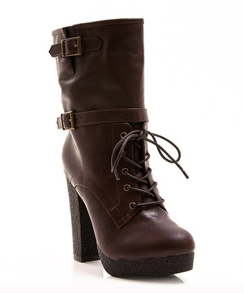 Brown Buckle Selma Boot