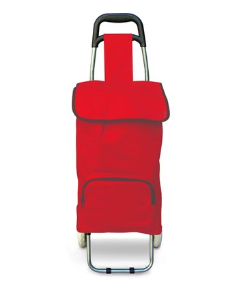 Red Insulated Rolling Bag
