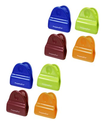 Mini Magnetic Eight-Piece Bag Clip Set