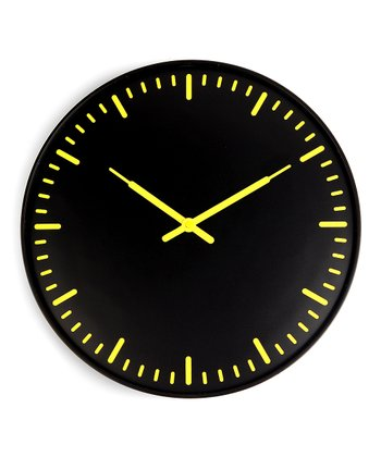 Yellow & Black Wall Clock
