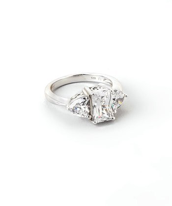 Sparkle & Sterling Silver Trio Ring
