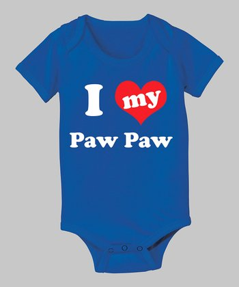 Royal Blue 'I Love My Paw Paw' Bodysuit - Infant