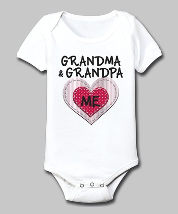 White 'Grandma & Grandpa Love Me' Bodysuit - Infant