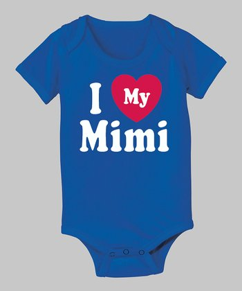 Royal Blue 'I Love My Mimi' Bodysuit - Infant