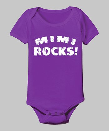 Purple 'Mimi Rocks' Bodysuit - Infant