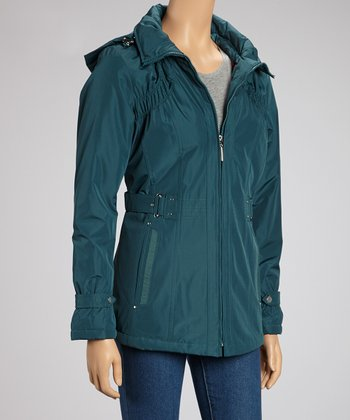 Teal Buckle Jacket - Women