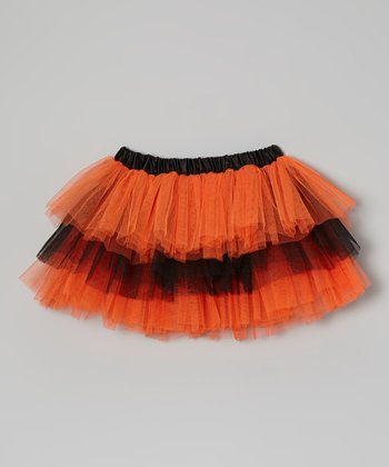 Orange & Black Tiered Tutu - Toddler & Girls