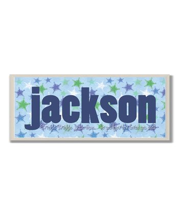 Blue Twinkle, Twinkle Personalized Wall Plaque