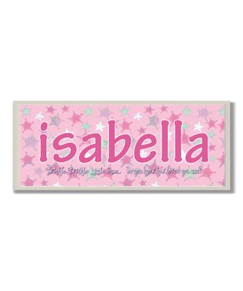 Pink Twinkle, Twinkle Personalized Wall Plaque
