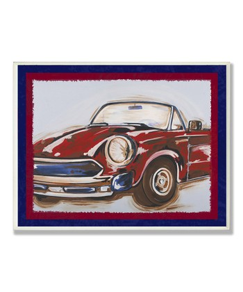 Blue & Red Vintage Car Framed Wall Art