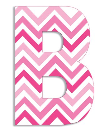 Pink Zigzag 'B' Wall Art