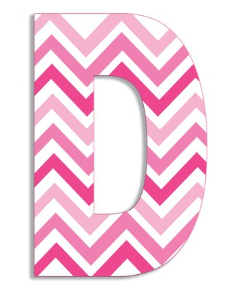 Pink Zigzag 'D' Wall Art