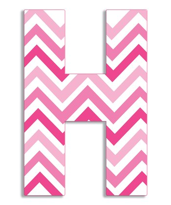 Pink Zigzag 'H' Wall Art