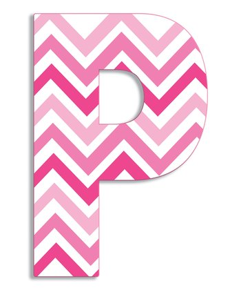 Pink Zigzag 'P' Wall Art