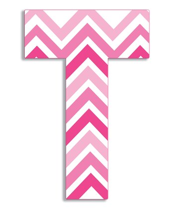 Pink Zigzag 'T' Wall Art