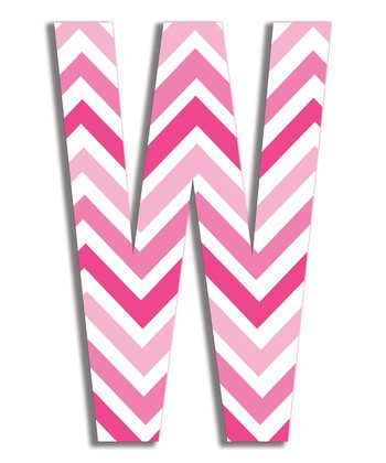 Pink Zigzag 'W' Wall Art