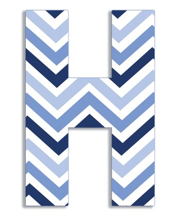 Blue Zigzag 'H' Wall Art