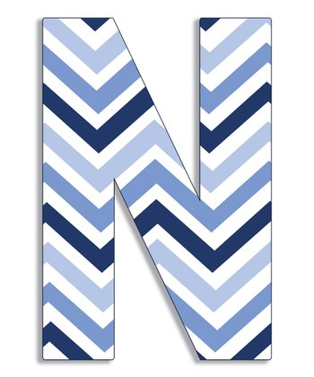 Blue Zigzag 'N' Wall Art