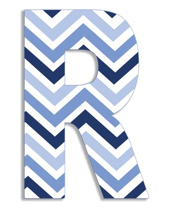 Blue Zigzag 'R' Wall Art