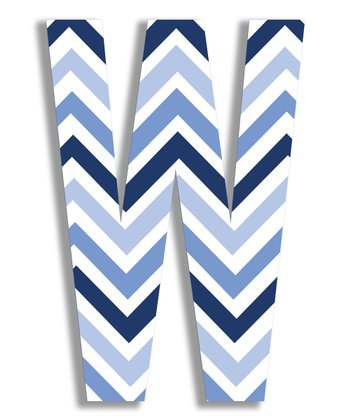 Blue Zigzag 'W' Wall Art