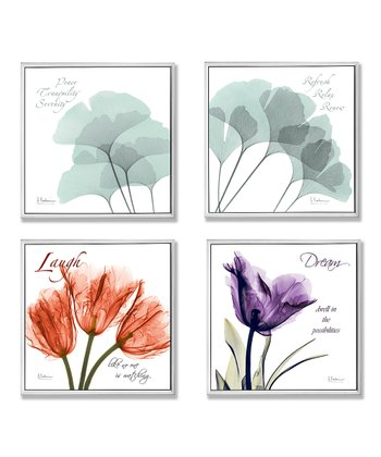 X-Ray Floral Inspiration Wall Plaque Set