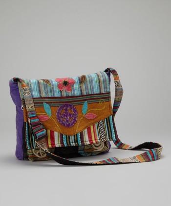 Violet Swirls & Stripes Tote