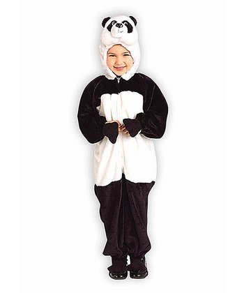 Black & White Plush Lil' Panda Dress-Up Set - Toddler & Kids