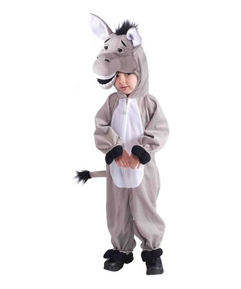 Gray Mascot Plush Donkey Dress-Up Set - Toddler & Kids