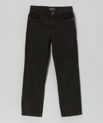 Black Straight-Leg Jeans - Toddler