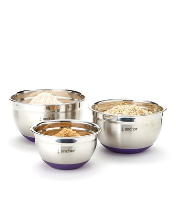 Stainless Steel Nonskid Mixing Bowl Set