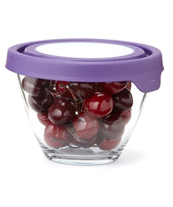 Purple Splash-Proof 1-Qt. Mixing Bowl & TrueSeal Lid - Set of Two