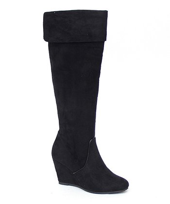 Black Martini Wedge Boot